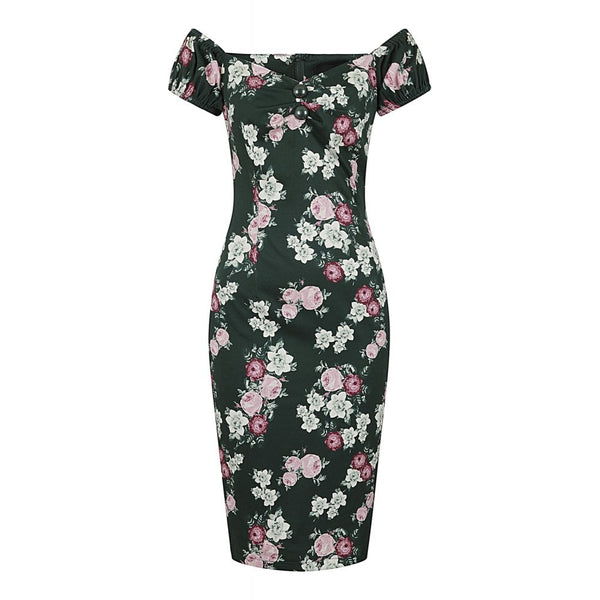 DOLORES VINTAGE BLOOM PENCIL DRESS