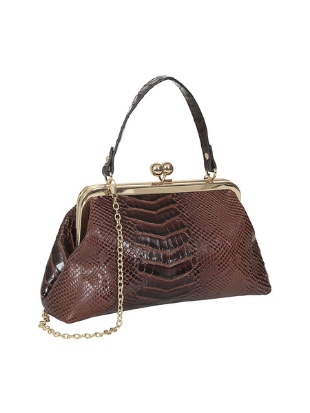 Doris Croc Bag Burgundy