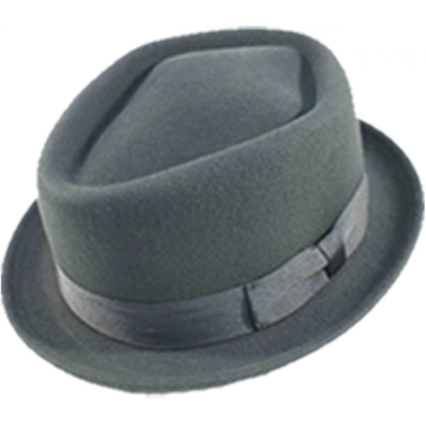 Diamond Crown Pork Pie Hat  E15-06 - Bowler Vintage