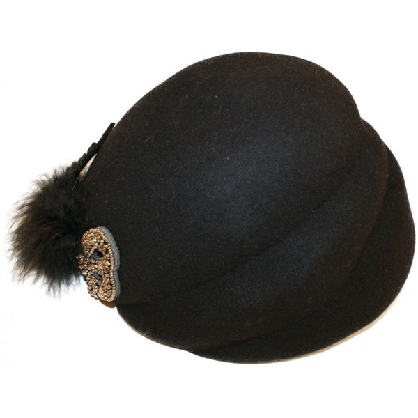 Ladies Vintage Hat - Bowler Vintage