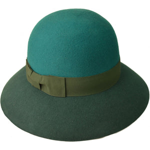Wide Brim Contrast Colour Hat