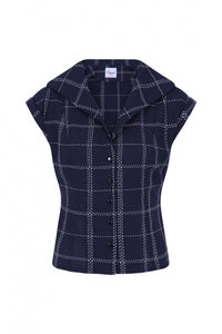 Chill Checks Blouse - Bowler Vintage