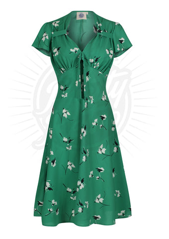Pretty 40s Tea Dress - Secret Garden Was £60 Now £50