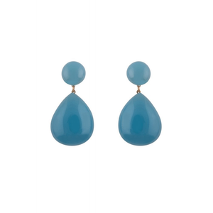Large Teardrop Earrings - Blue - Bowler Vintage