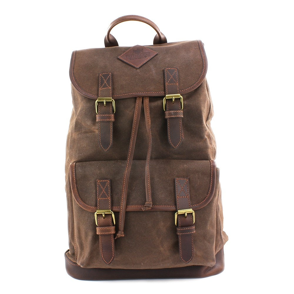 The Navigator Brown Wax Canvas Rucksack