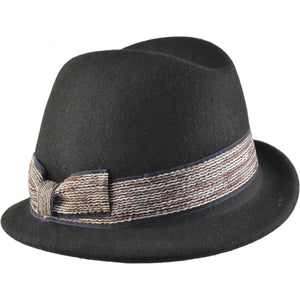 WOOL TRILBY CLOCHE HAT