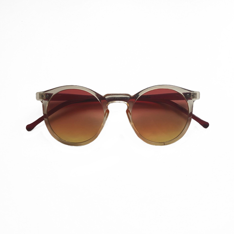 Robin Round Sunglasses - Two Tone Yellow