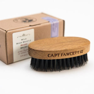 Wild Boar Bristle Beard Brush - Bowler Vintage