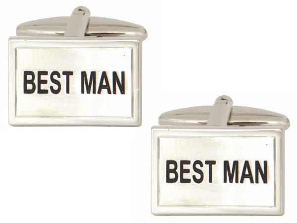 Best Man Wedding  Cufflink - Bowler Vintage