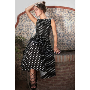 Frances Polka Dot Swing Dress