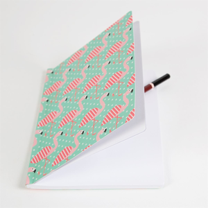 Tropical Flamingo A5 Notebook