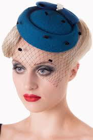Judy Pillbox Hat - Teal