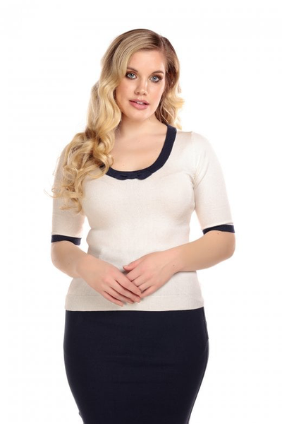 Freya Knitted Top - Ivory