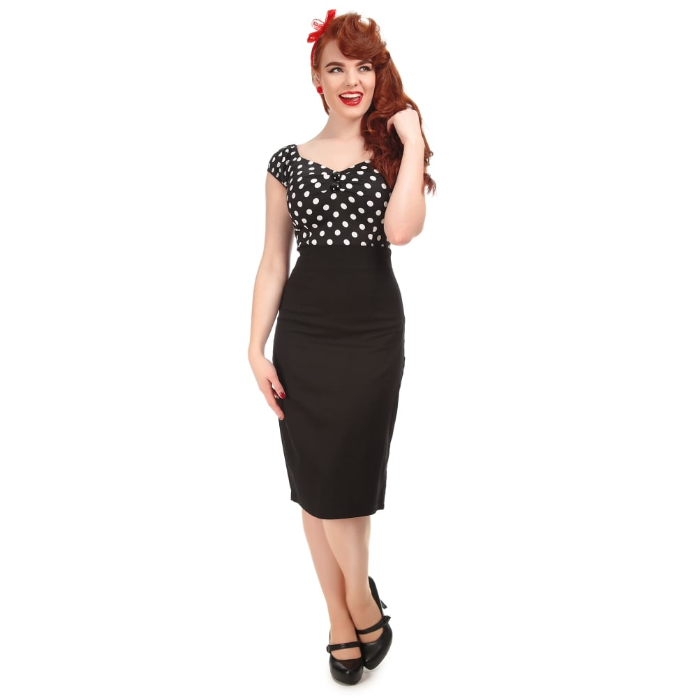 Fiona Pencil Skirt - Black - Bowler Vintage