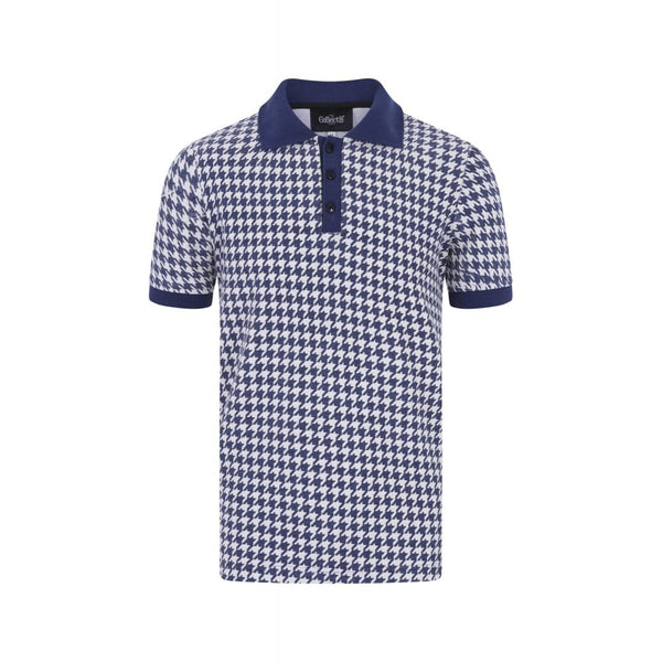 PABLO DOGTOOTH POLO SHIRT
