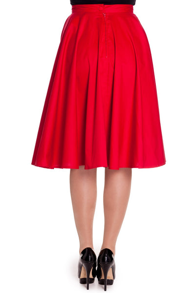 Paula 50's Skirt - Red - Bowler Vintage