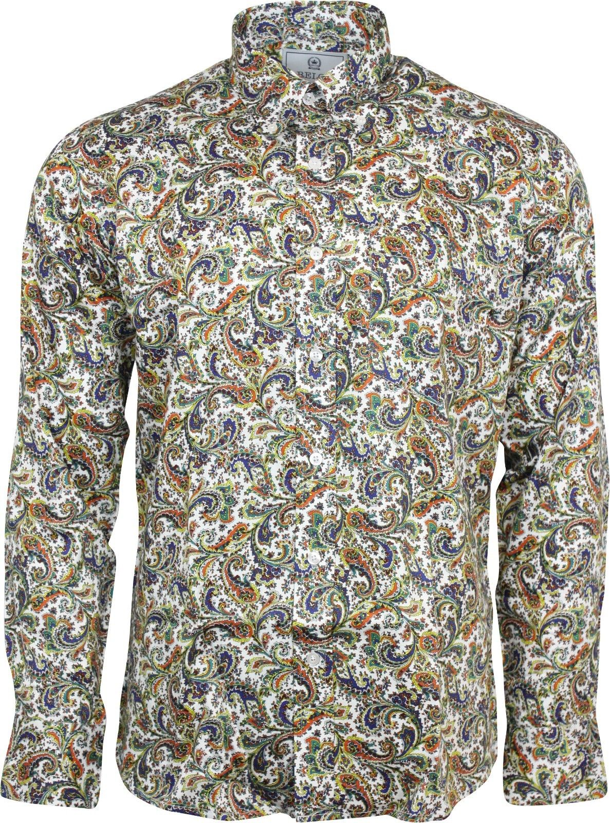 White Paisley Shirt Was £42.50 Now £30