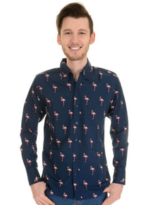Long Sleeve Flamingo Shirt - Bowler Vintage