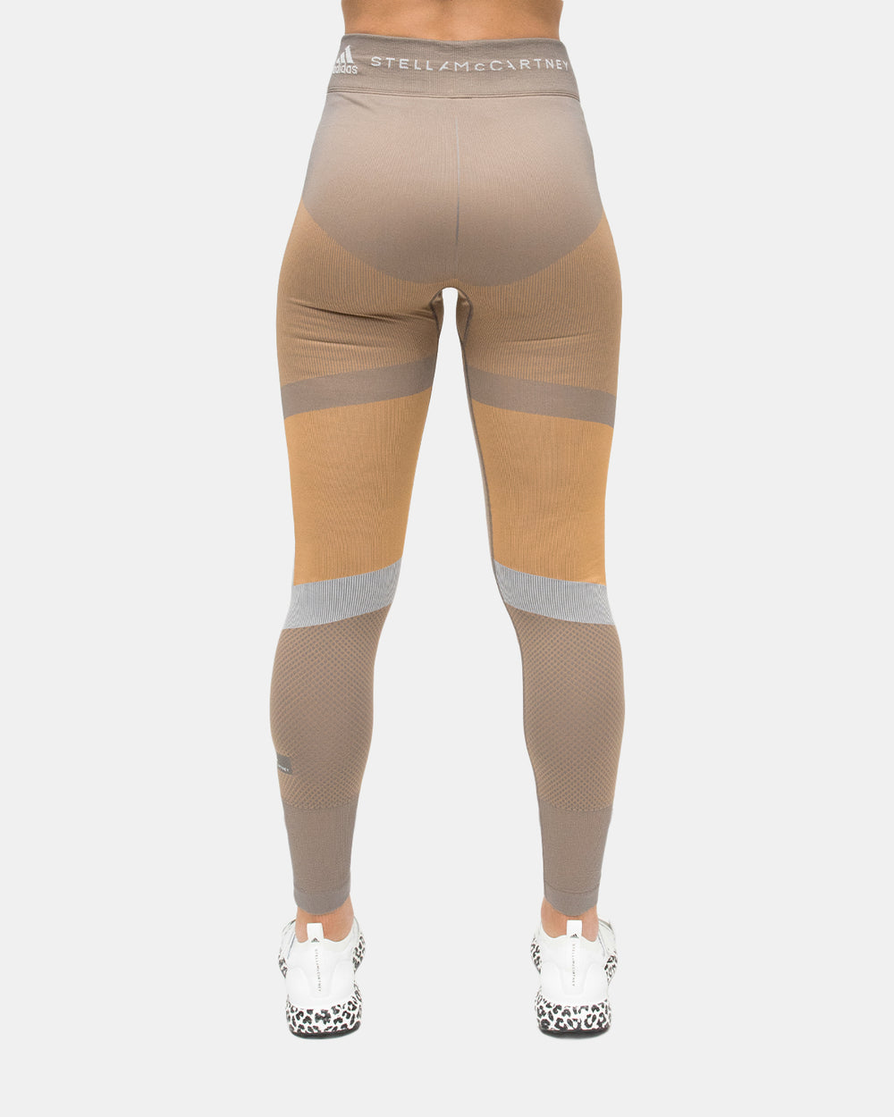 adidas - Women's adidas by Stella McCartney Knit Running Leggings (Explorer Carbon | Cardboard)