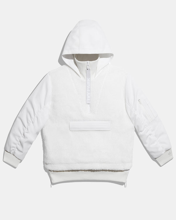 ½ Zip Sherpa Layered Jacket (Core White)