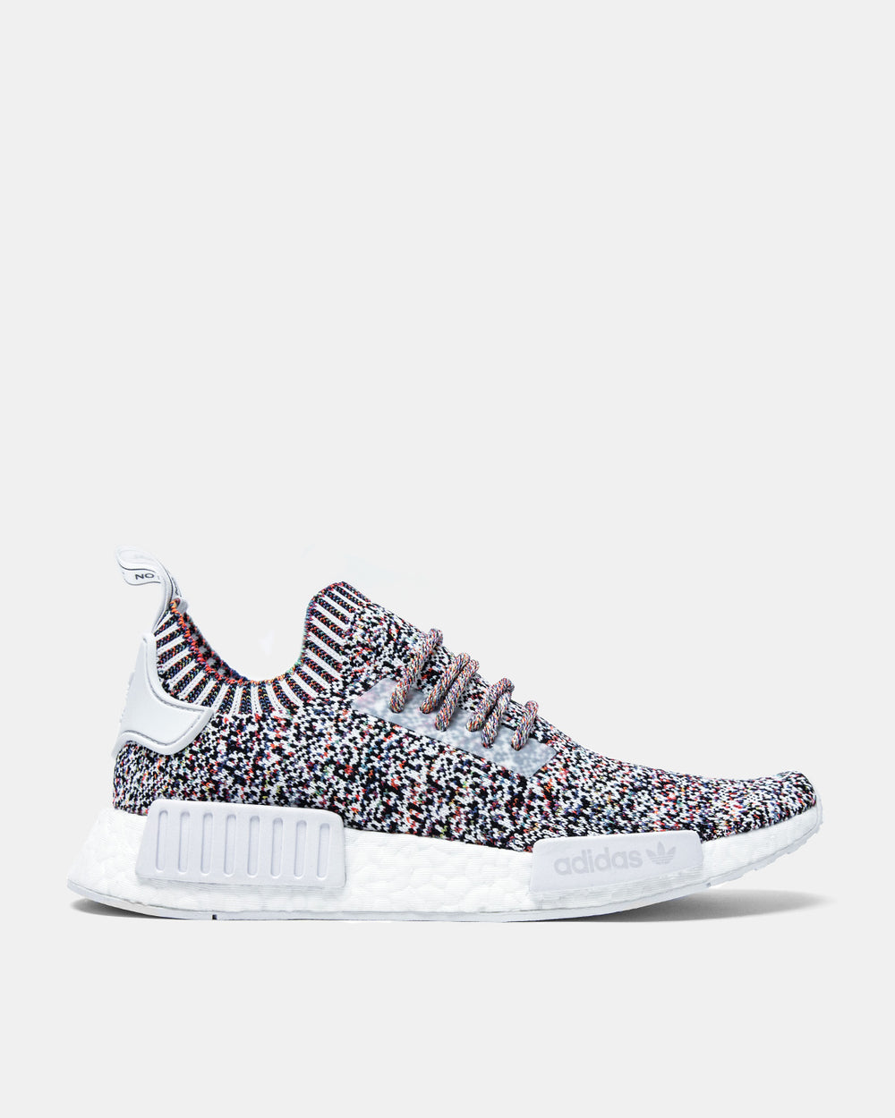 adidas - NMD R1 Primeknit (Core White | Core White | Multi Color)