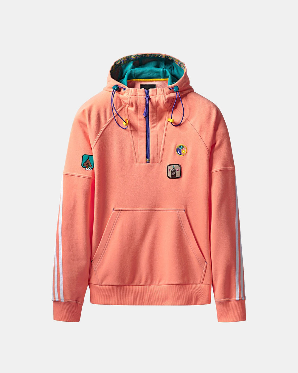 adidas - Pharrell Williams HU Hiking Hooded Sweatshirt (Sun Glow | EQT Green)