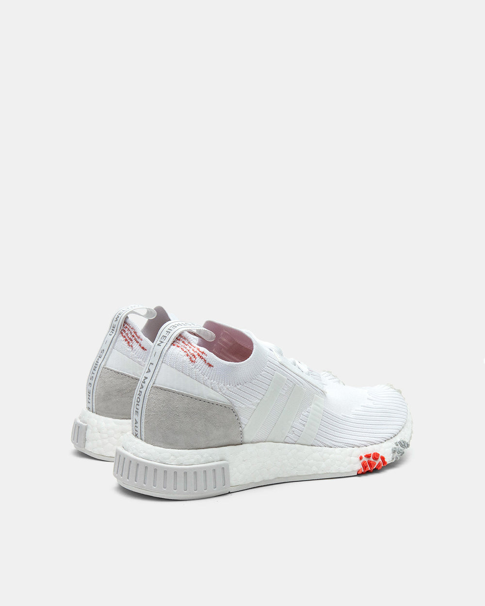 adidas - Women's NMD_Racer Primeknit (Cloud White | Trace Scarlet)