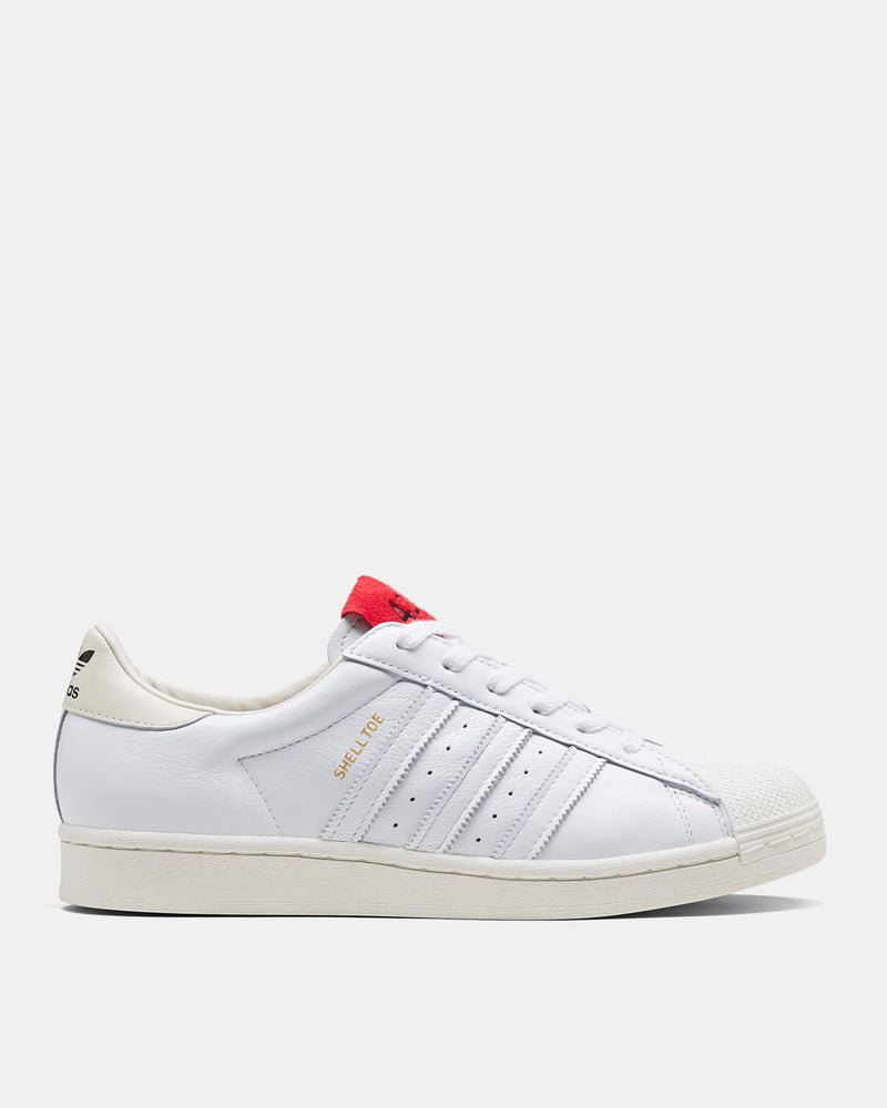adidas Consortium - 424 Shell Toe (Core White | Scarlet)