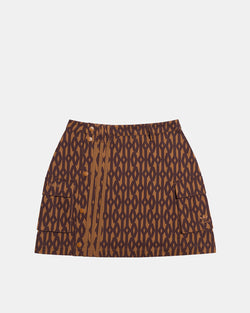 Women's Ivy Park Monogram Skirt (Wild Brown | Night Red)