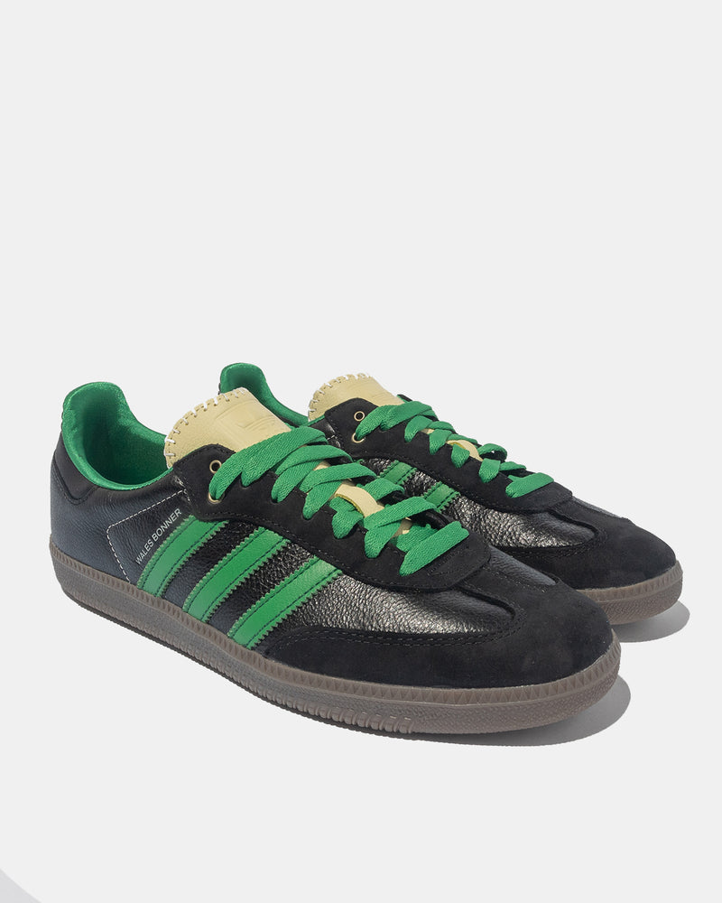 Wales Bonner Samba (Core Black | Cream White | Green)