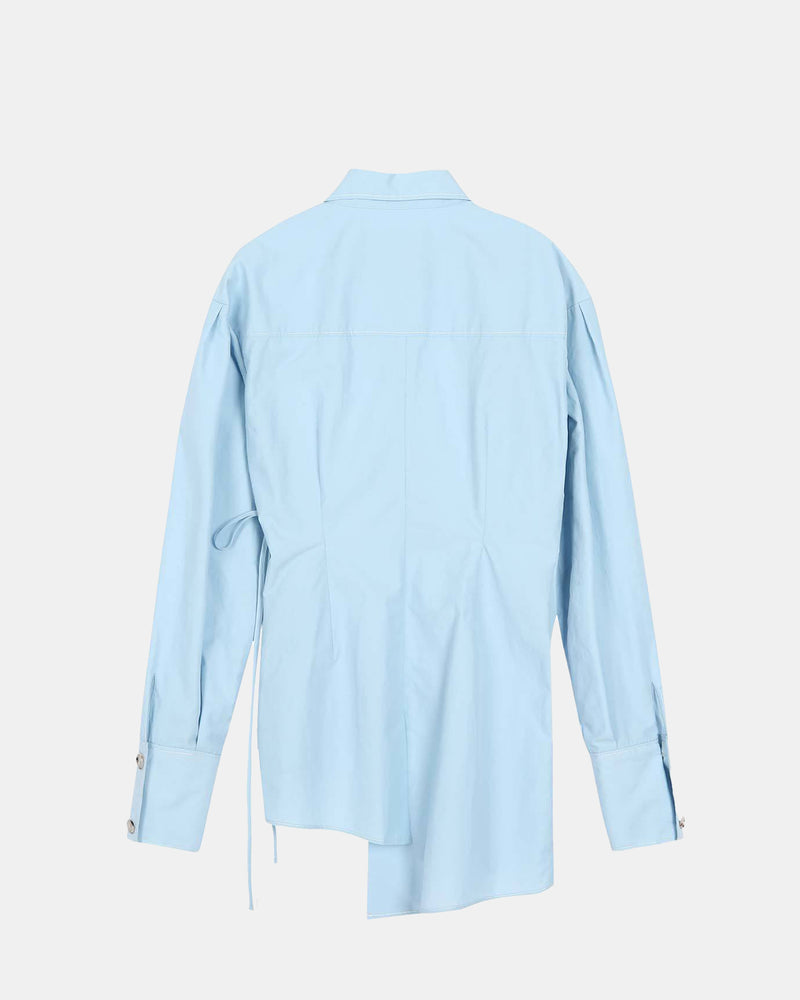 Women's Daphne Wrap Blouse (Blue)