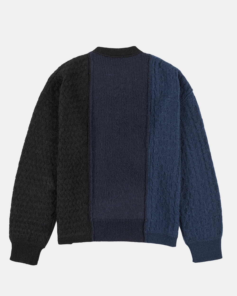 Andersson Bell - Women's Brushed Cable Oversized Sweater (Navy | Black)