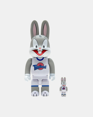Medicom Toy - Space Jam Bugs Bunny 100%/400% Be@rbrick (Grey)