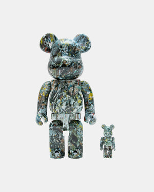Medicom Toy - Jackson Pollock Ver. 2.0 100%/400% Be@rbrick (Multi Color)
