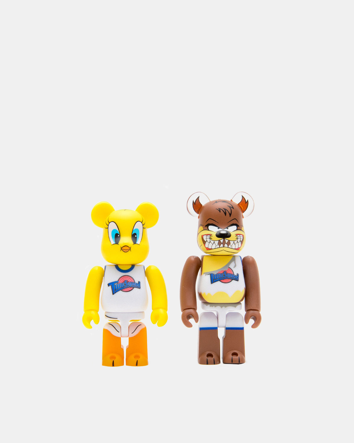Medicom Toy - Space Jam Tweety Bird and Tasmanian Devil 100% 2 Pack Be@rbrick (Yellow | Brown)
