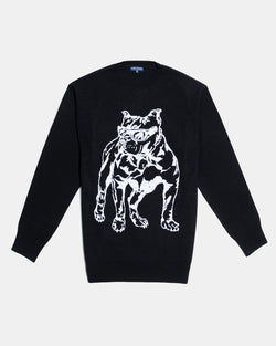 Boardwalk Shark Intarsia Sweater (Black)