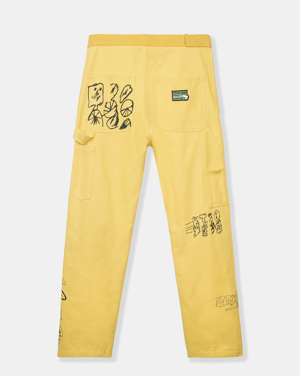 Brain Dead - Hard/Software Velcro Printed Carpenter Pant (Yellow)