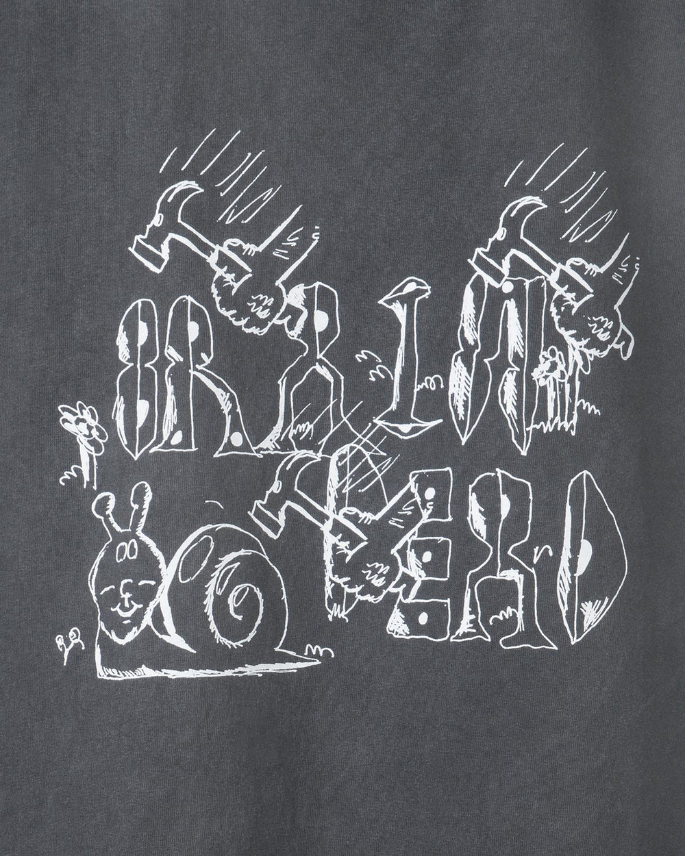 Brain Dead - Leon's Girls Long Sleeve Tee (Washed Black)