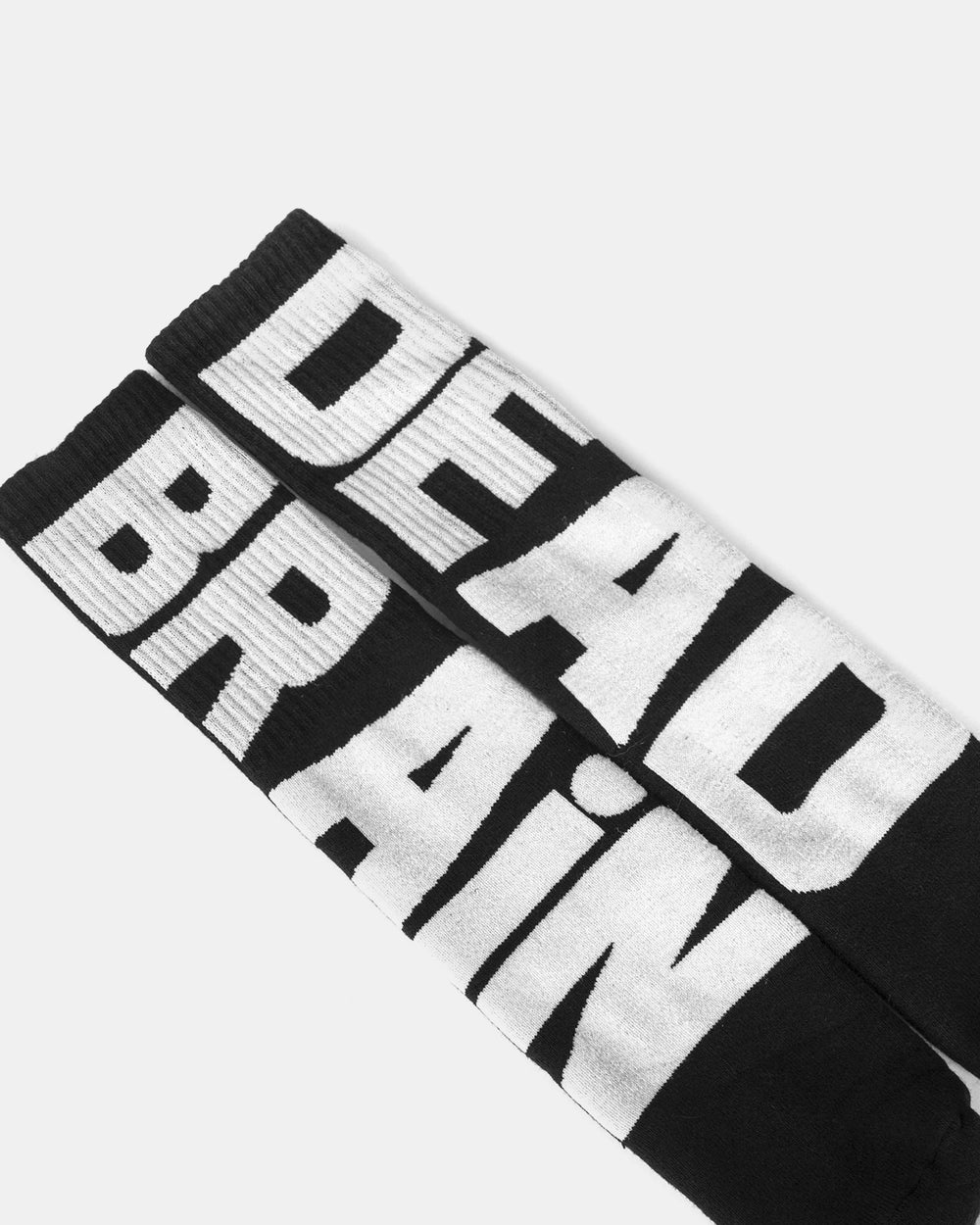 Brain Dead - Vertical Type Socks (Black)