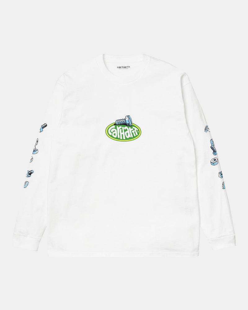 WIP Long Sleeve Screw Tee (White)