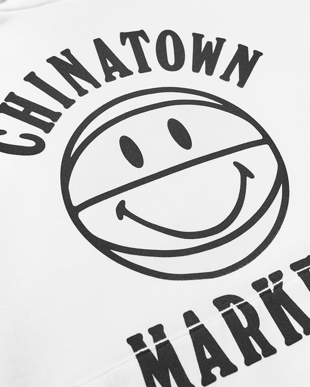 Chinatown Market - UV Smiley Ball Hoodie (Cream)