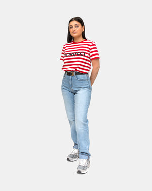 Fiorucci - Women's Stripe Classic Tee (Red | White)