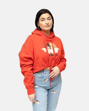 Fiorucci - Women's Angels Crop Hoodie (Red)