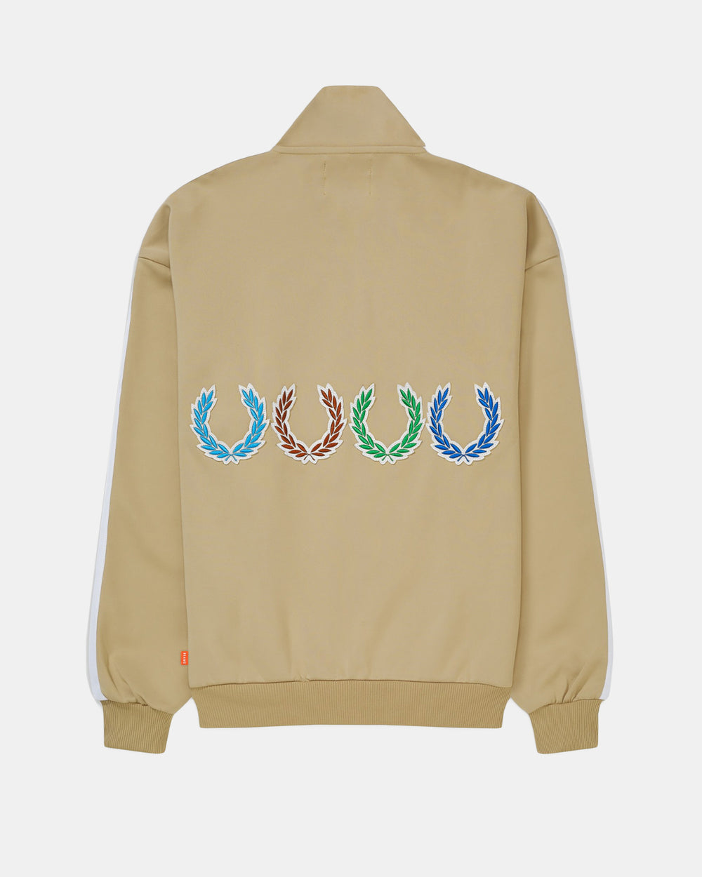Fred Perry - Fred Perry x BEAMS Laurel Wreath Patch Track Jacket (Beige)