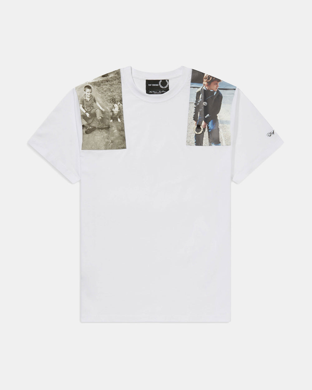 Fred Perry - Raf Simons Shoulder Print Tee (White)
