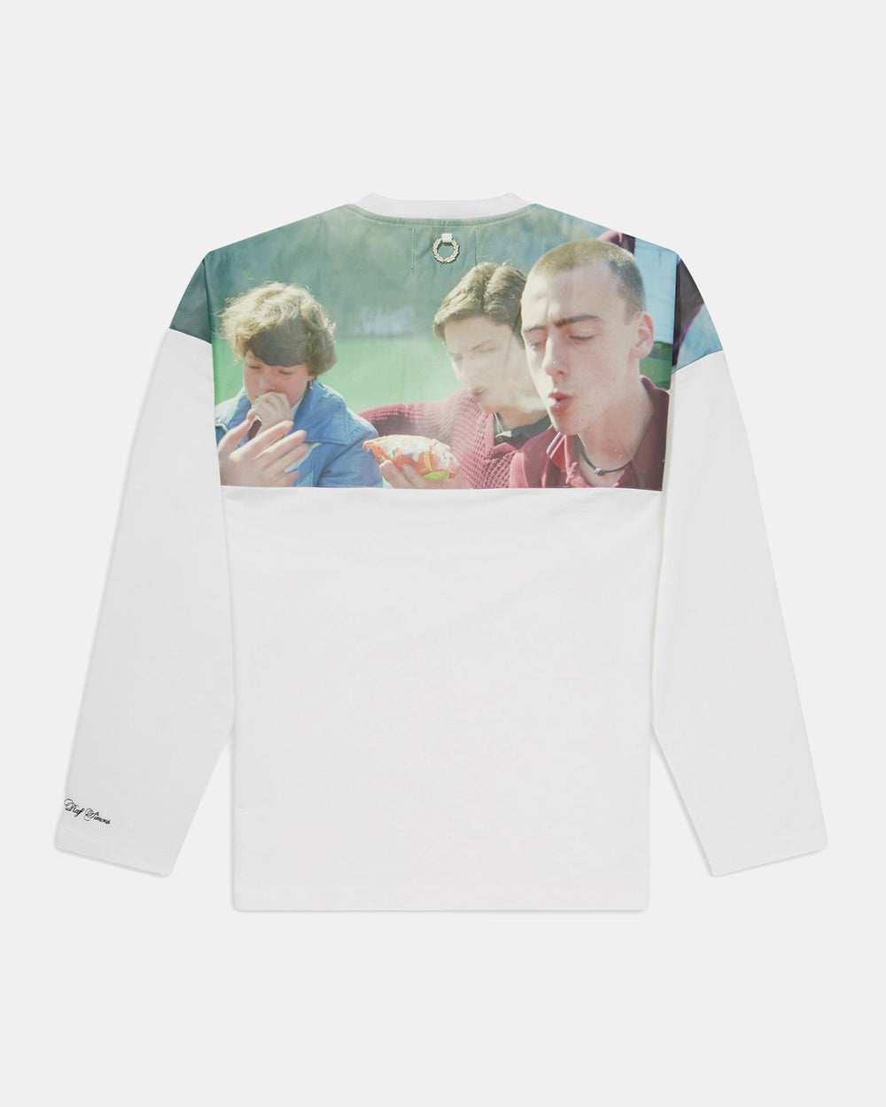 Fred Perry - Raf Simons Yoke Print Long Sleeve Tee (White)