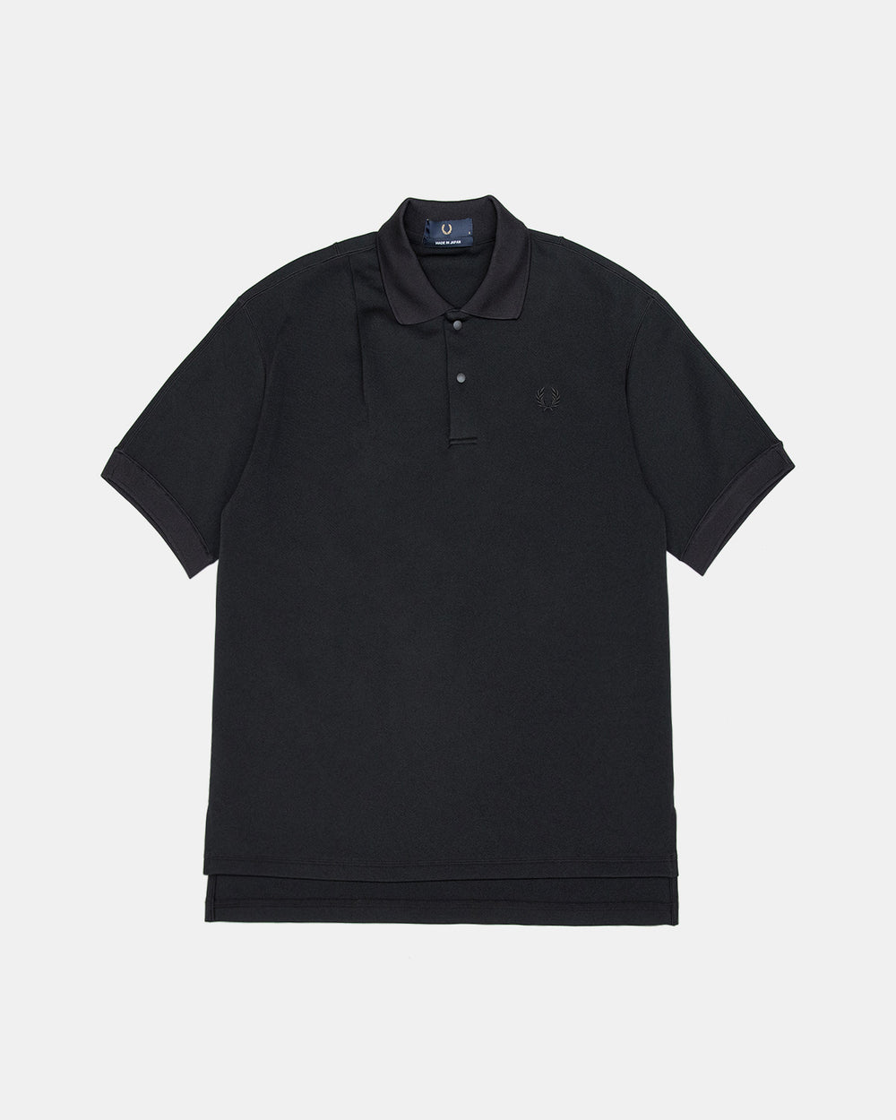 Fred Perry - Laurel Wreath Made in Japan Tuck Detail Polo Shirt (Black)