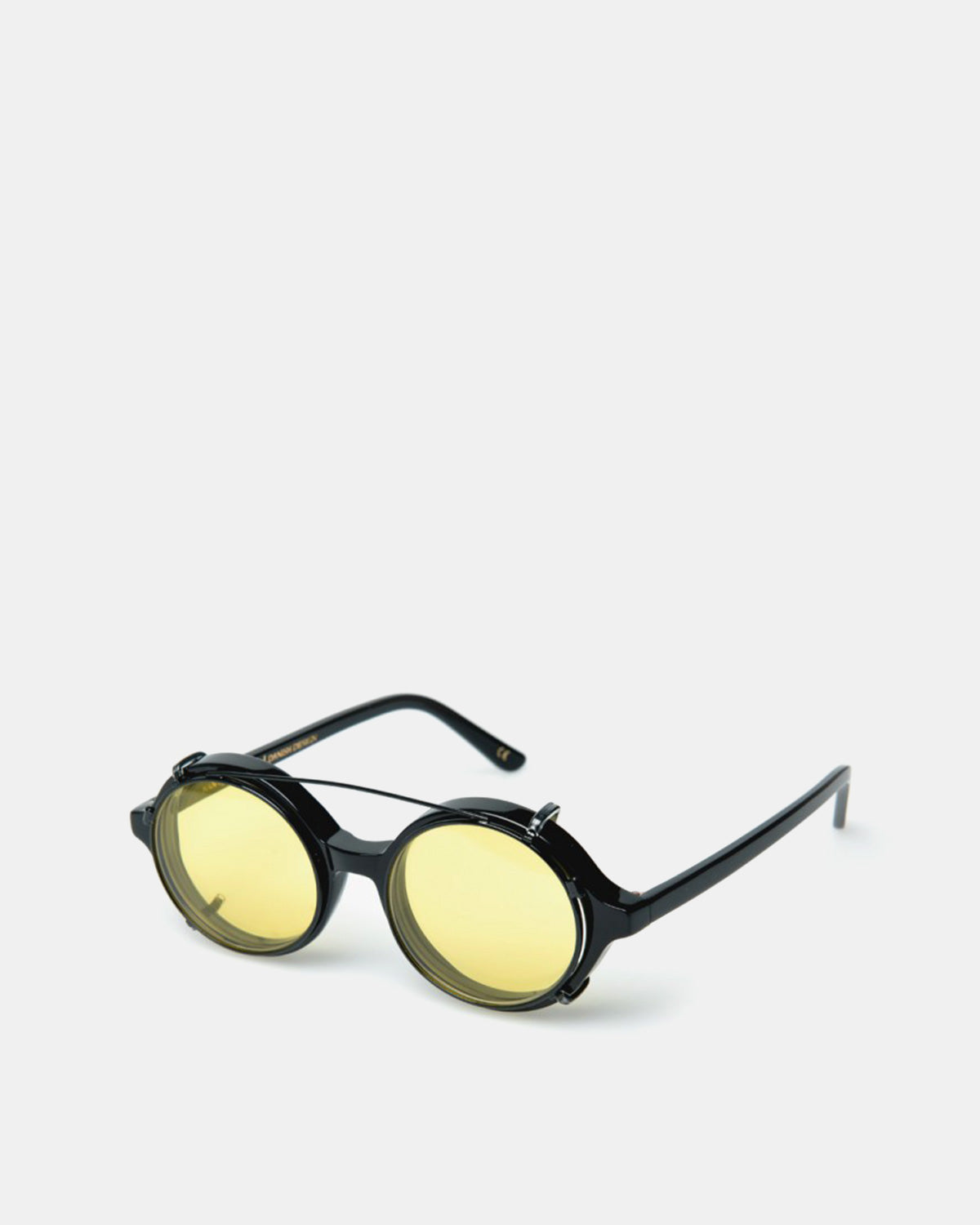 Han Kjobenhavn - Doc Clip On Sunglasses (Yellow Lenses)