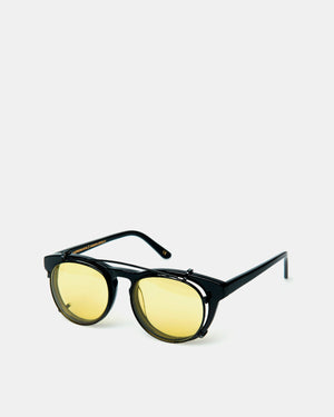 Han Kjobenhaven - Timeless Clip on Sunglasses (Black | Yellow Lenses)