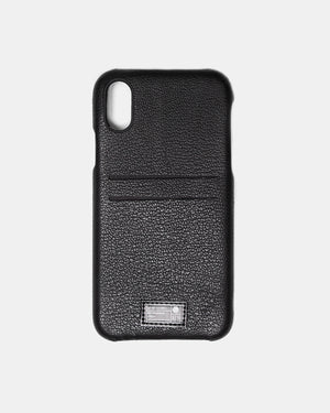 HEX - iPhone X Black Leather Solo Wallet (Black)